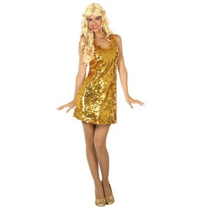 ROBE DISCO OR TAILLE M/L
