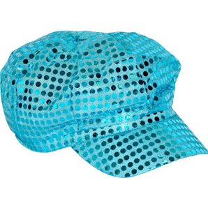 CASQUETTE A SEQUINS TURQUOISE