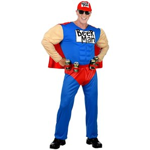COSTUME SUPER BEER MAN TAILLE L