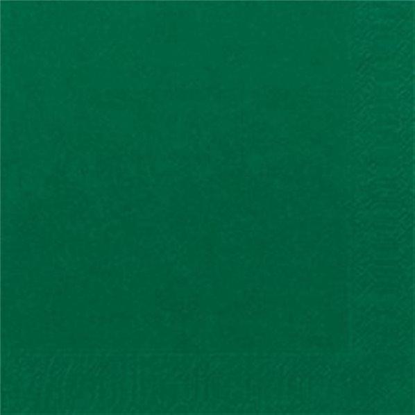 Serviettes papier vert fonce 40x40cm x125 - Serviette en papier vert fonce ...