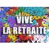 CONFETTIS DE TABLE VIVE LA RETRAITE