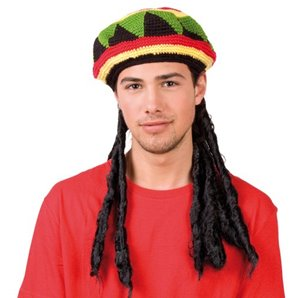 BONNET RASTA AVEC DREAD LOCKS