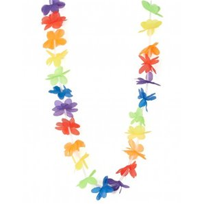 COLLIER HAWAIEN MULTICOLORE POLYESTER