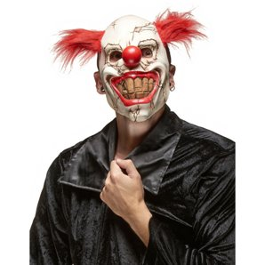 MASQUE CLOWN MECHANT EN LATEX