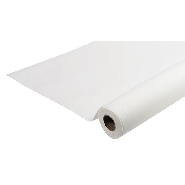 nappe effet tissu airlaid blanc 10m. Black Bedroom Furniture Sets. Home Design Ideas