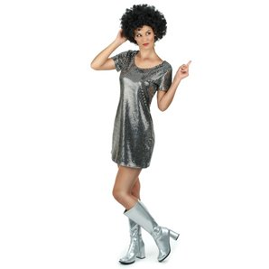 ROBE DISCO ARGENTEE TAILLE S