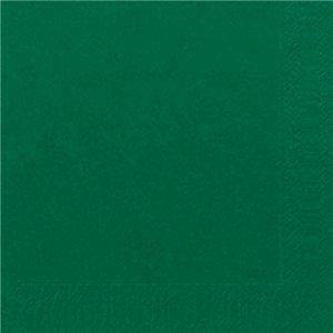 Serviettes papier vert fonce 33x33cm x125 - Serviette en papier vert fonce ...