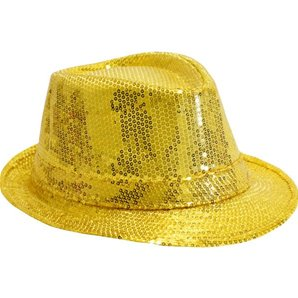 CHAPEAU JUSTIN A SEQUINS OR