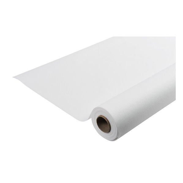 nappe effet tissu airlaid blanc 50m. Black Bedroom Furniture Sets. Home Design Ideas