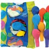 BALLONS UNIS ASSORTIS EN LATEX 30CM - SACHET DE 100