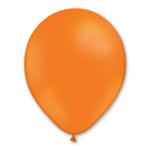 BALLONS ORANGE EN LATEX 30CM - SACHET DE 50